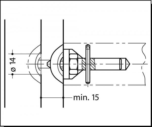 Türgriffbefestigung BA6.7